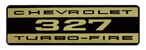 1964-77 Chevelle Valve Cover Decal, Turbo-Fire 327