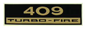 1970-77 Monte Carlo Valve Cover Decal: 409 Turbo-Fire