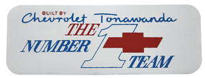 1964-77 El Camino Valve Cover Decal, Chrome Tonawanda