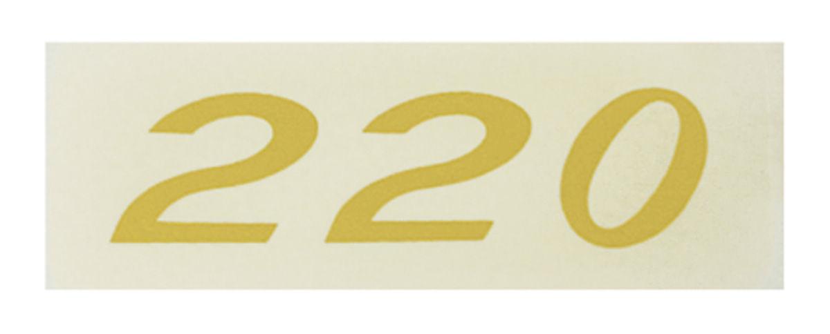Photo of Valve Cover Decal, Horsepower Designation 220 (Gold)