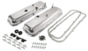 1970-72 Monte Carlo Valve Cover Kit, Complete (Big-Block) Non-Drippers Style