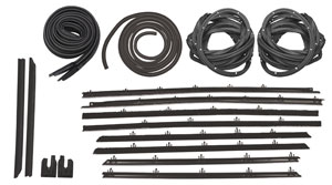 1964 Chevelle Stage I Coupe Weatherstrip Kit All