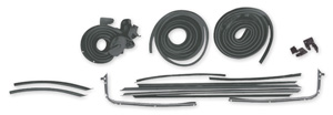 1966-67 Chevelle Stage I Coupe Weatherstrip Kit Reproduction Style Felts