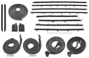 1966-67 Chevelle Stage I Coupe Weatherstrip Kit Original Style Felts