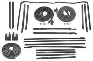 1966-67 Chevelle Stage I Convertible Weatherstrip Kit Reproduction Style Felts