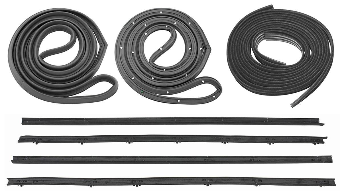 1964 stage i el camino weatherstrip kit all. Black Bedroom Furniture Sets. Home Design Ideas
