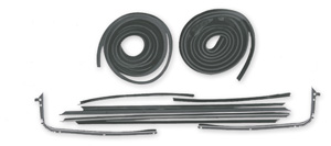 1968-72 Stage I El Camino Weatherstrip Kit Original Style Felts