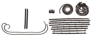 1966-1967 Cutlass Weatherstrip Kit, Coupe (Stage I) Original Style Felts