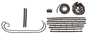 1966-1967 Cutlass/442 Weatherstrip Kit, Coupe (Stage I) Original Style Felts