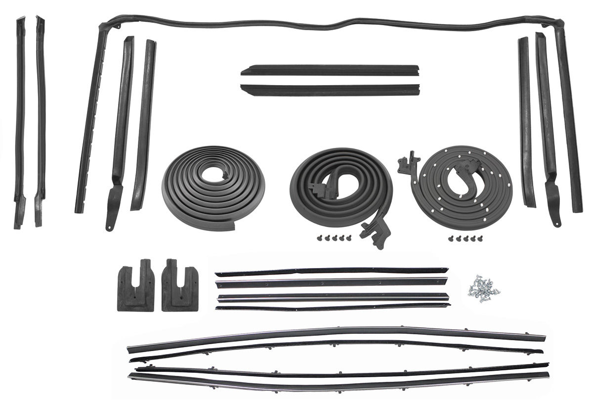 1964 cutlass weatherstrip kit convertible stage i reproduction style felts. Black Bedroom Furniture Sets. Home Design Ideas
