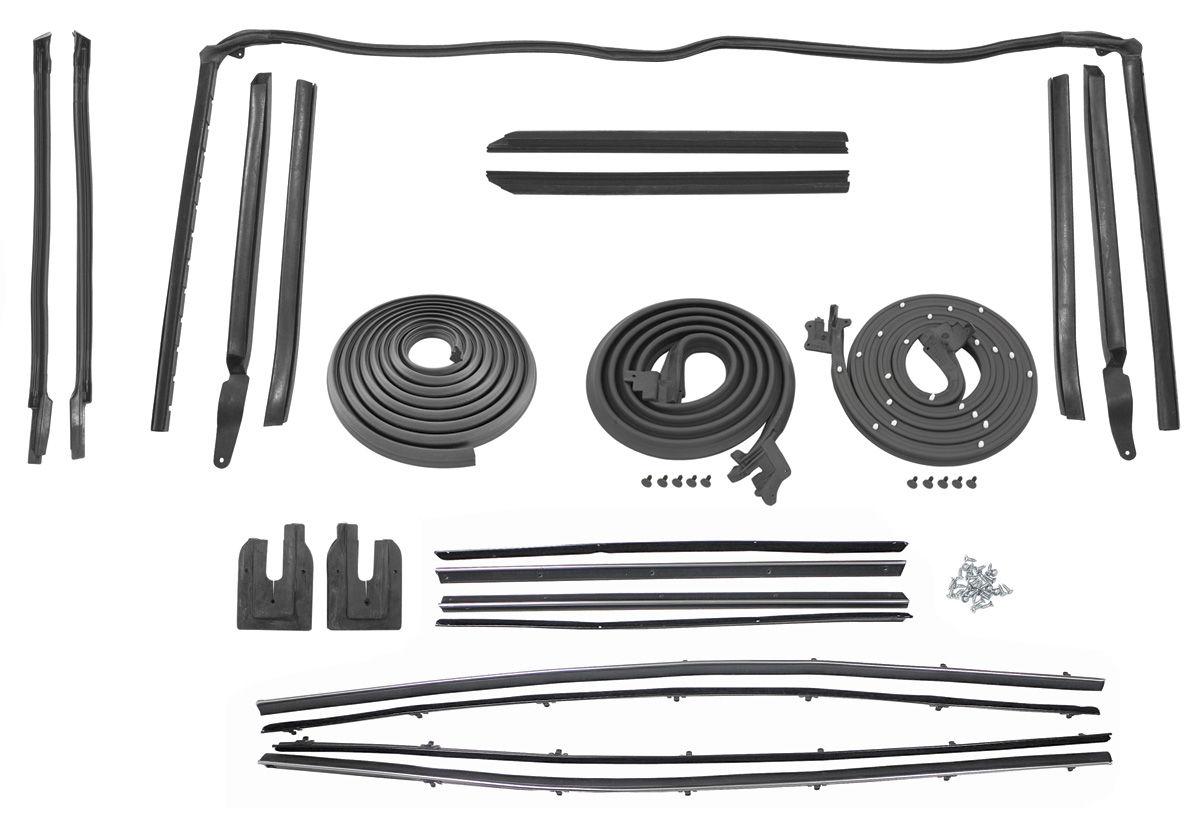1964 cutlass weatherstrip kit convertible stage i. Black Bedroom Furniture Sets. Home Design Ideas