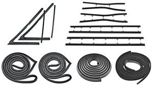 1966-67 Cutlass Weatherstrip Kit, Sedan (Stage I) Reproduction Style Felts