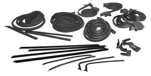 1965-1965 Cutlass Weatherstrip Kit, Coupe (Stage II) Reproduction Style Window Felts