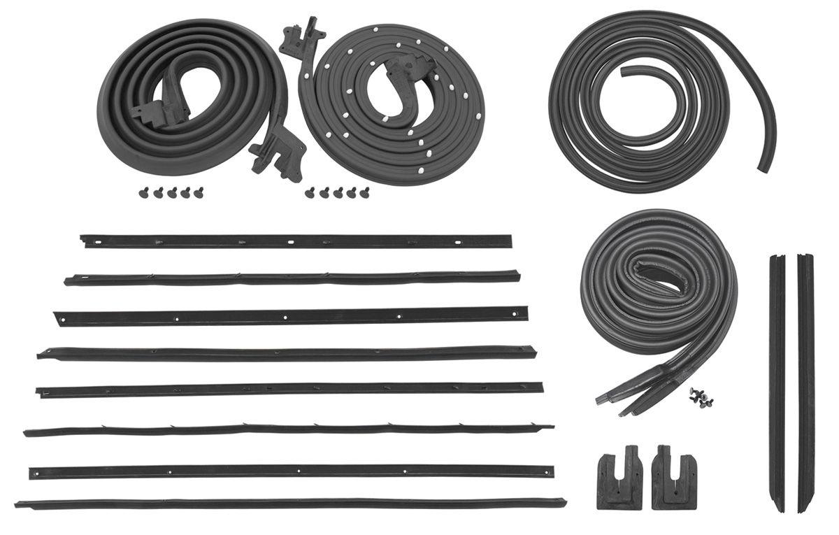 1964 weatherstrip kit stage i skylark coupe reproduction style felts. Black Bedroom Furniture Sets. Home Design Ideas