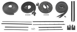 1968 Weatherstrip Kit, Stage I Skylark Coupe Original Style Felts