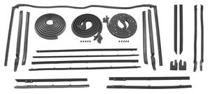 1966-67 Weatherstrip Kit, Stage I Skylark Convertible Reproduction Style Felts