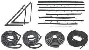 1966-67 Weatherstrip Kit, Stage I Skylark Sedan Original Style Felts