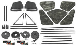 1964-1964 Skylark Weatherstrip Kit, Stage II Skylark Coupe Reproduction Style Felts