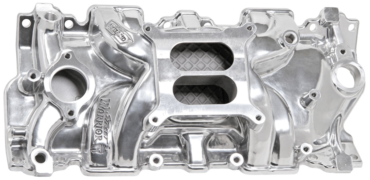 Photo of Intake Manifolds, Street Warrior, Weiand Small-Block square-bore, polished