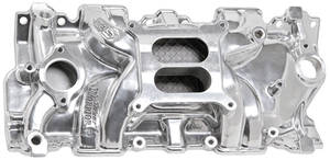 1978-88 El Camino Intake Manifolds, Street Warrior, Weiand Small-Block Square-Bore, Polished