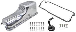 1978-88 El Camino Oil Pan Kits, Finned, Cast Aluminum Big Block