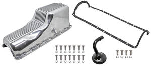 1978-1988 El Camino Oil Pan Kits, Finned, Cast Aluminum Big Block