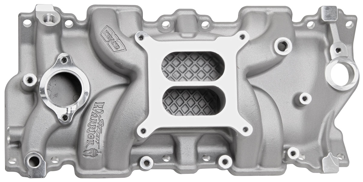 Photo of Intake Manifolds, Street Warrior, Weiand Small-Block square-bore, natural