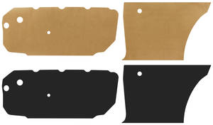 1966-67 Cutlass Door Panel Water Shields Coupe, by Repops