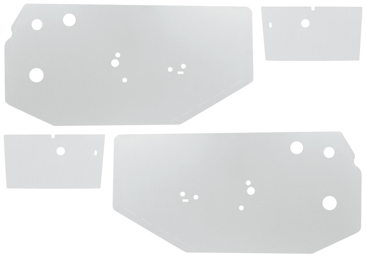 Photo of Door Panel Water Shields Front/Rear (Chevelle) convertible