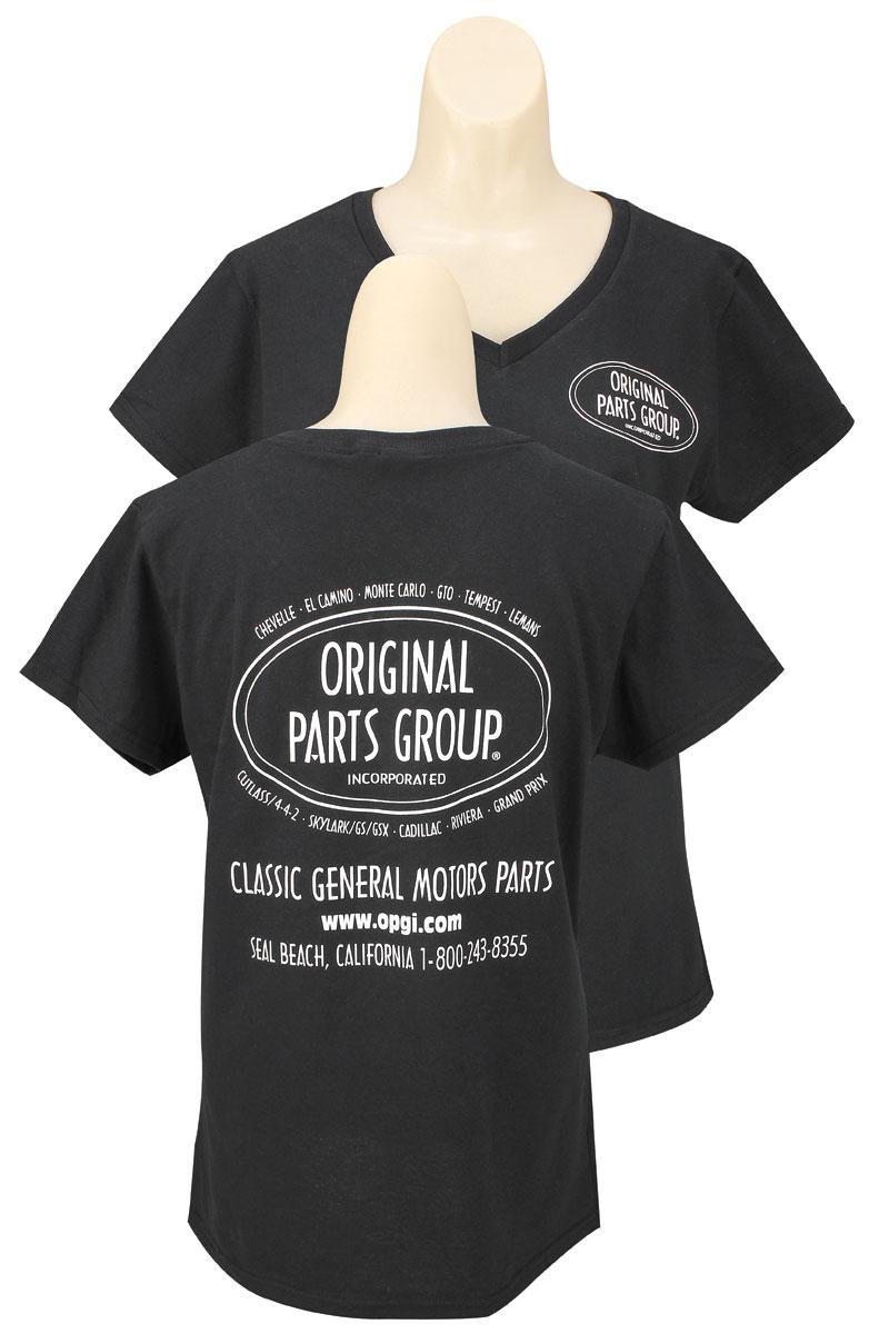 original parts group shirt women 39 s black v neck. Black Bedroom Furniture Sets. Home Design Ideas