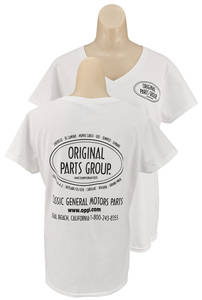 Original Parts Group Shirt, Women's White V-Neck