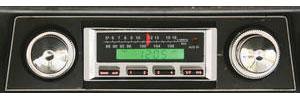 1968-69 Cutlass Stereo, Vintage Car Audio 100 Series Black
