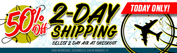 1/2 Off 2 Day Air Shipping