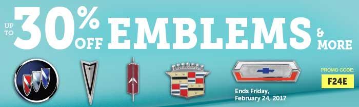 Emblems & More Sale