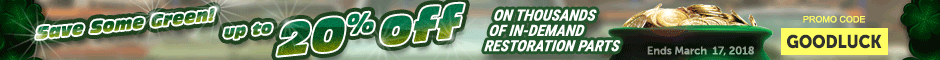 GTO Save up to 20% on Restoration Parts Promotion Banner