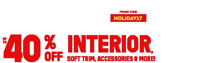 Up to 40% off Interior Soft Trim & More
