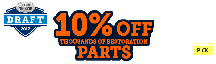 Save up to 10% Off Restoration Parts Plus Free Shipping over $99