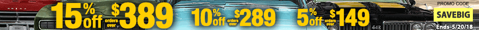 Chevelle Restoration Spotlight Sale Promotion Banner