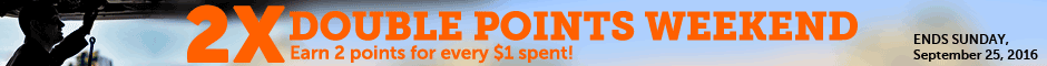 Double Points Promotion Banner