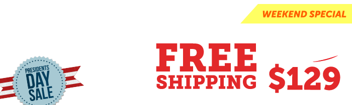 Free Shipping $129