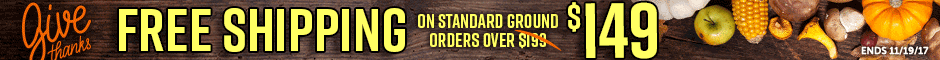 Grand National Free Ground Shipping $149 Promotion Banner