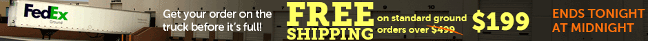 Free Shipping Orders over $199 Promotion Banner