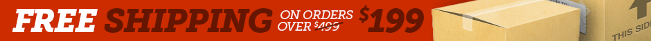 Free Shipping on All Orders Over $199 Promotion Banner