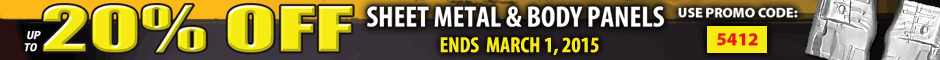 Chevelle 20% off sheet metal Promotion Banner