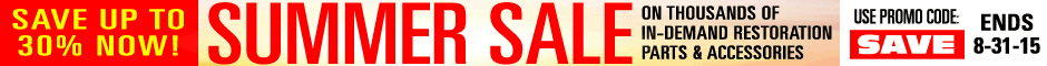 1970 GTO Save up to 30% Summer Sale Promotion Banner